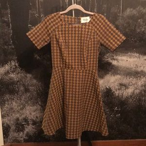 Anthropologie fit and flare dress sz 4